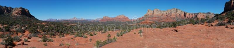 Red rocks panoramic view royalty free stock photos
