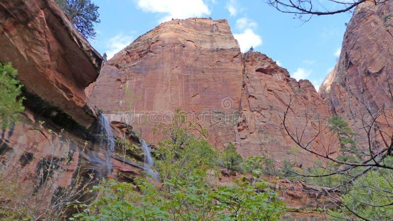 Waterfalls at red rocks royalty free stock photography