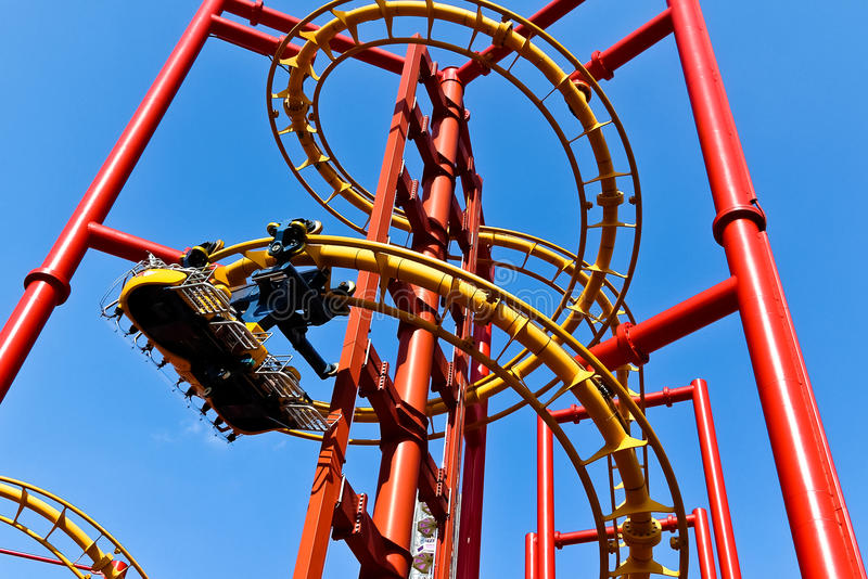 Download Red roller coaster stock photo. Image of roller, family - 19975148