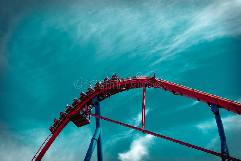 Red Roller Coaster royalty free stock photo