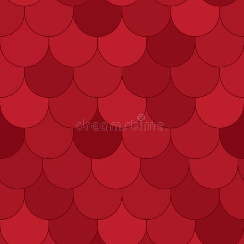 Red Roof struttura Pattern_eps senza cuciture royalty illustrazione gratis