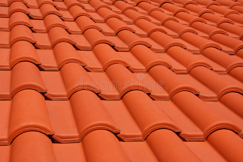 Red roof texture tile. Close up of red roof texture tile royalty free stock image