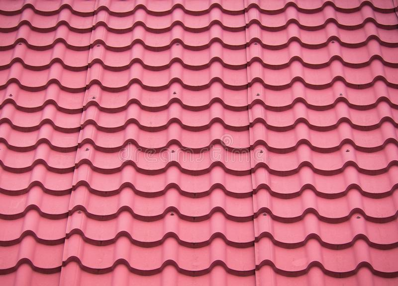 Red Roof Tile is Notches. The Red Roof Tile is Notches stock photos