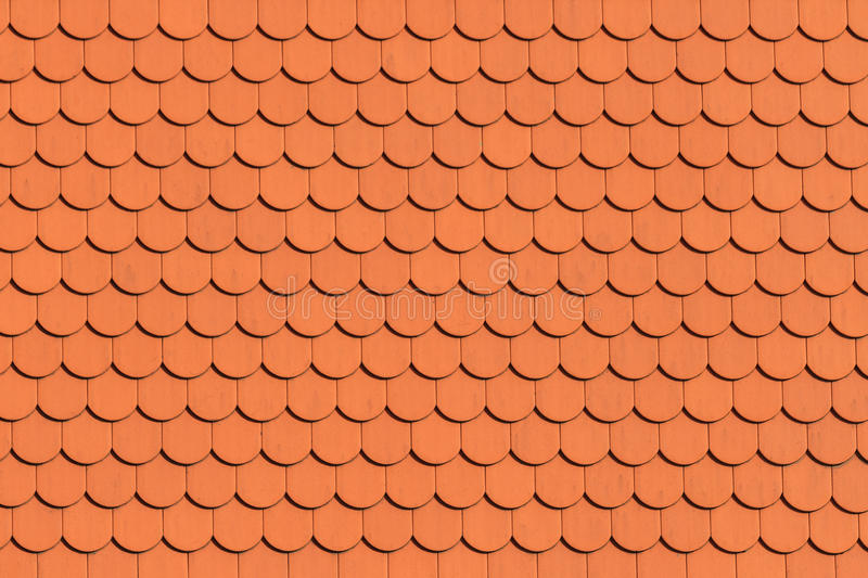 Red roof tile pattern. (close up royalty free stock photo