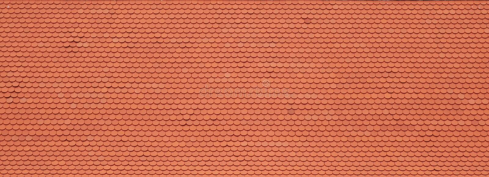 Red roof tile. Texture background stock images