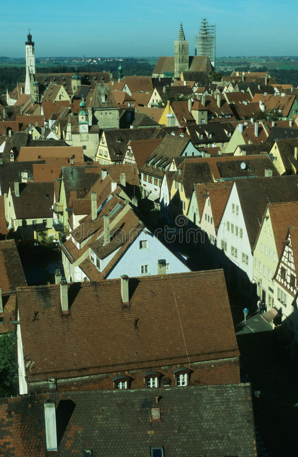 Red roofs stock image
