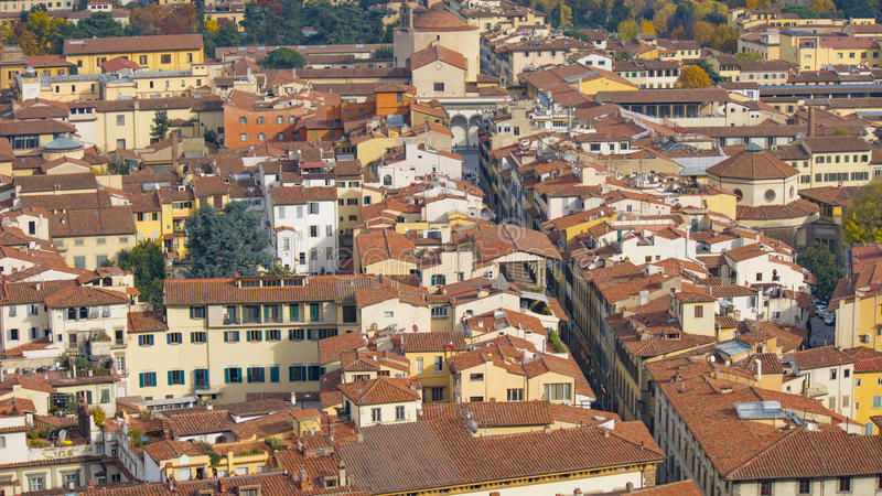 Download Red Roofs Of Old Houses Florence Seen From The Observation Platform Duomo, Cathedral Santa Maria Del Fiore. Stock Image - Image: 83709223