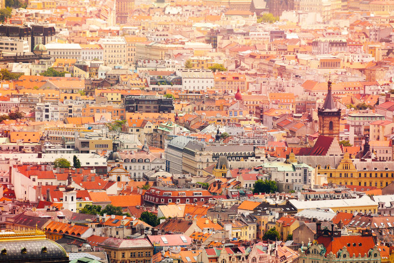 Download Red Roofs Of Prague Royalty Free Stock Photos   Image: 36024658