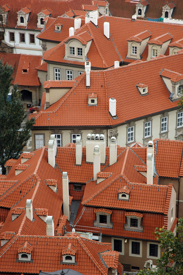Free Red Rooftops Of Houses Stock Images - 4996244