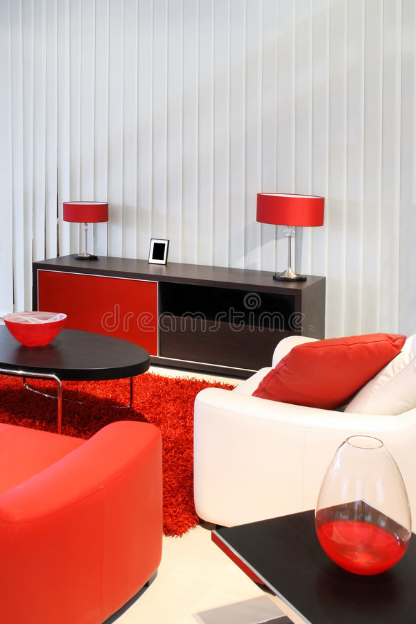 Red room stock photography