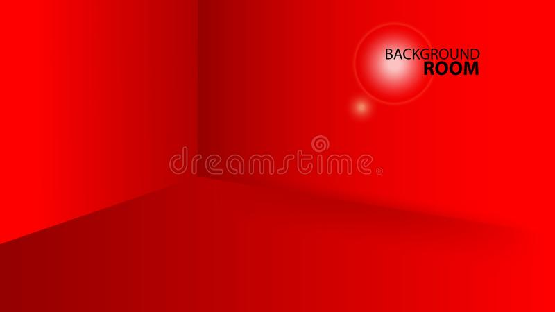 Red room background , Vector Empty template, banner design, cover, web page, advertisement, texture vector illustration