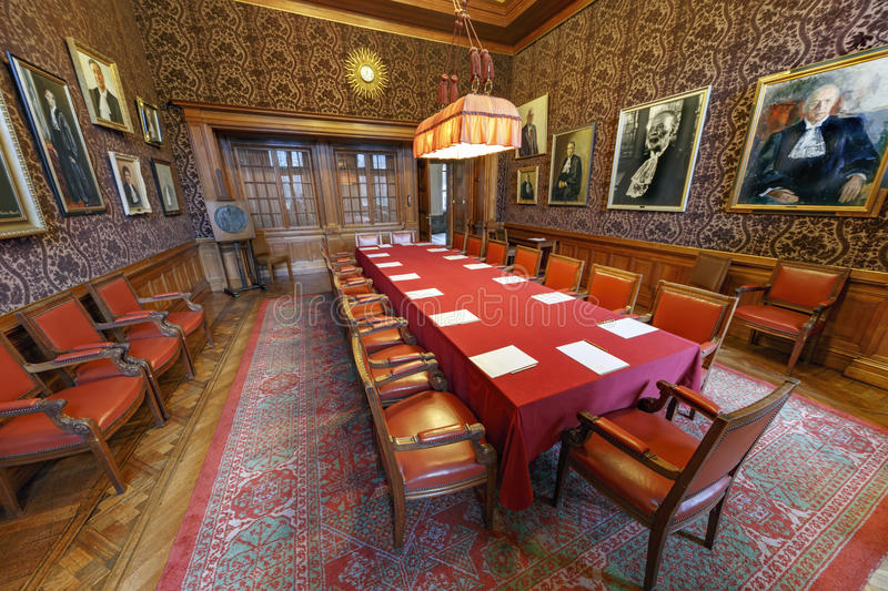 Red Room International Court of Justice royalty free stock photography