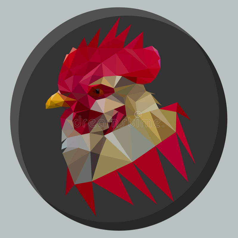 Red rooster stock photos