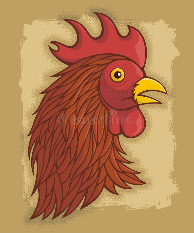 Download Red rooster's head stock vector. Image of cockerel, background - 26224053