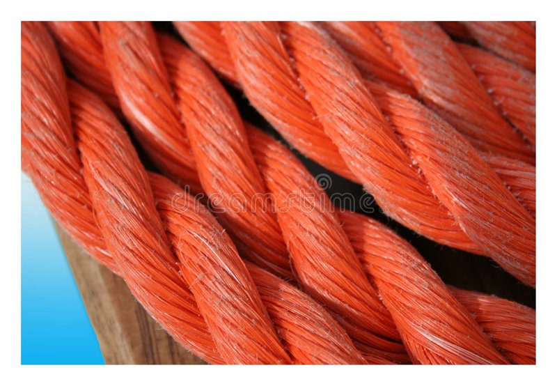 Red rope stock image