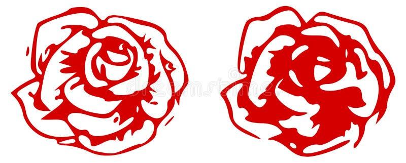 Download Red rose stock illustration. Illustration of drawing - 25621417