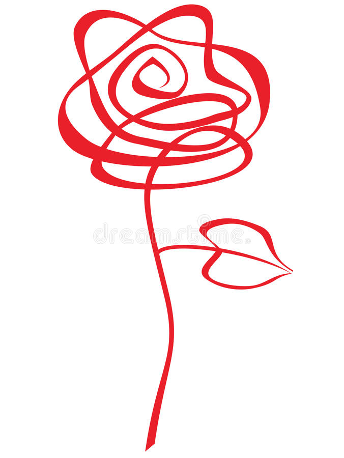 Red Rose Abstract. Abstract red rose over a white background