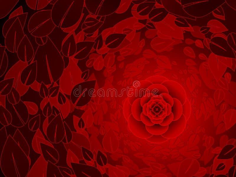 Red rose background vector illustration