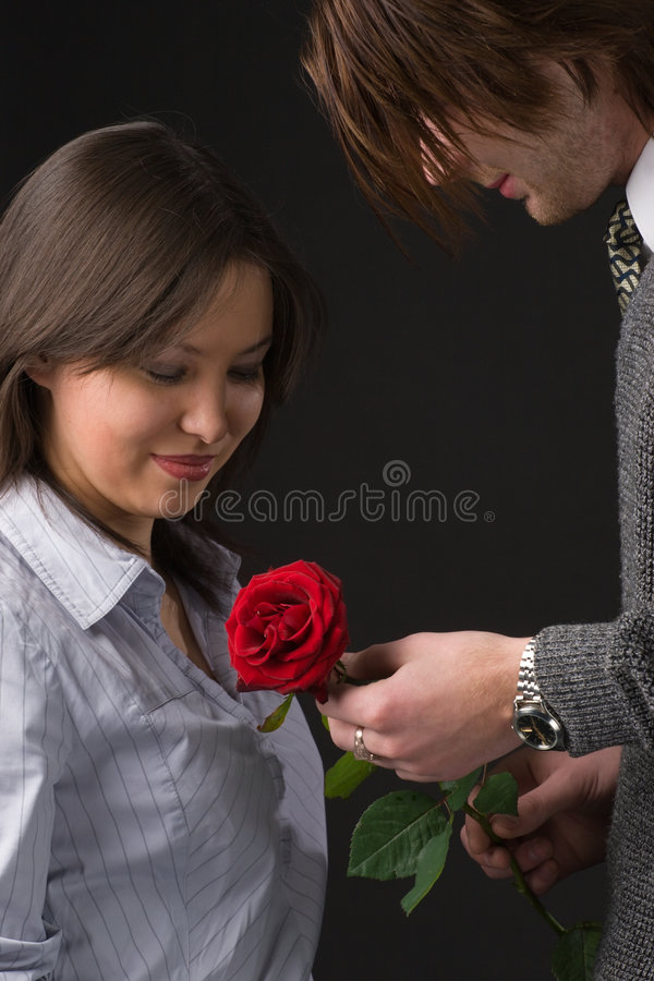 Download Red rose for beloved girl stock photo. Image of concept - 4111868