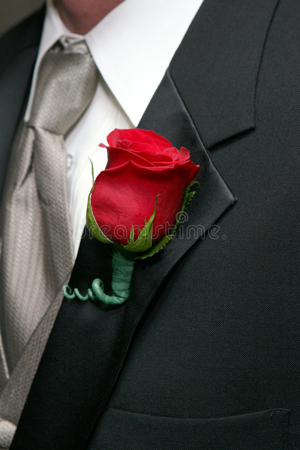 Free Red Rose Boutonniere Stock Photography - 7649162