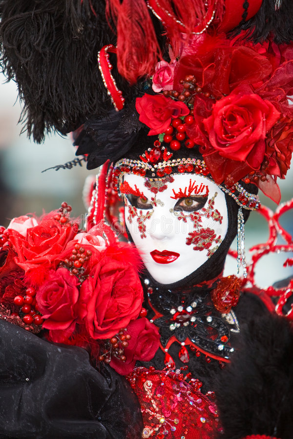Red Rose Costume Stock Photo