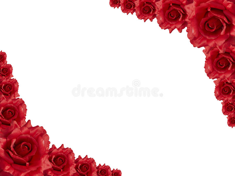 Red rose frame stock image. Image of mothers, bridal - 12399857