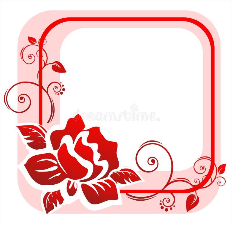 Red rose frame royalty free illustration