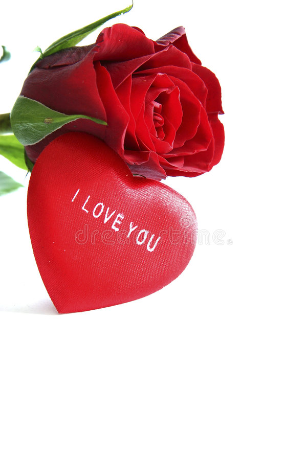 Download Red Rose And Heart Stock Image - Image: 1776481