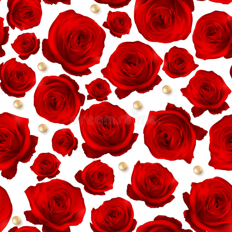 Red Rose seamless background. EPS 10. Vector file included royalty free illustration