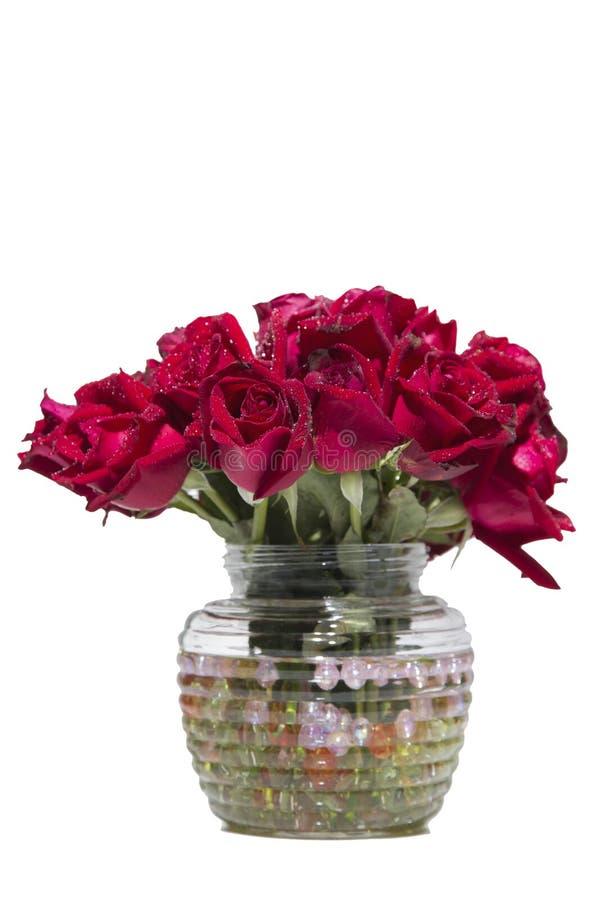 Download Red rose stock image. Image of vase, background, floral - 43533205