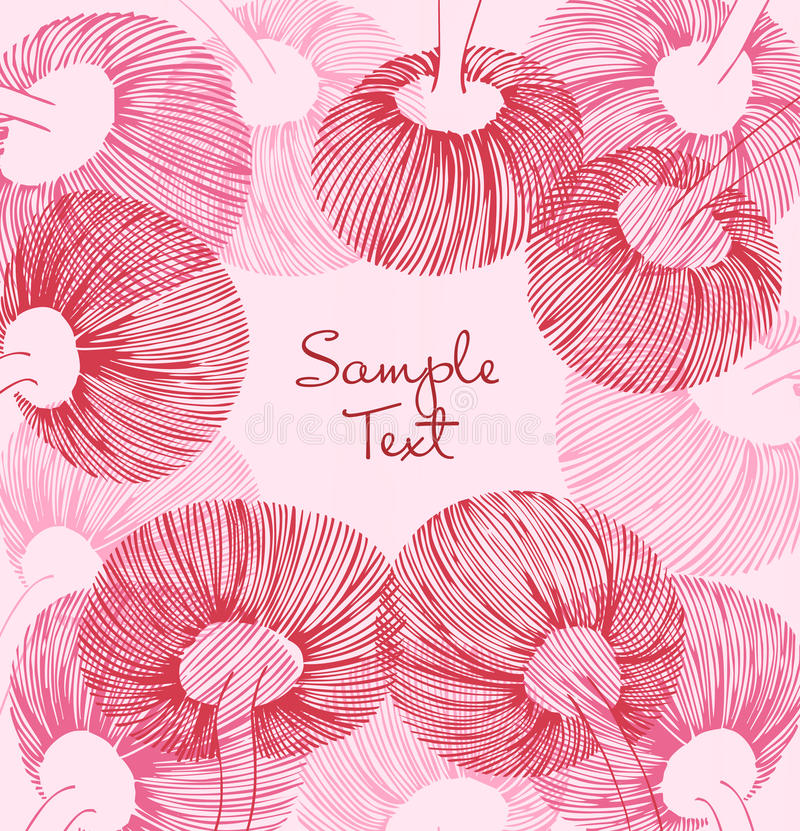 Red and rose vintage flower element. Can use for cards, arts, invitations stock illustration