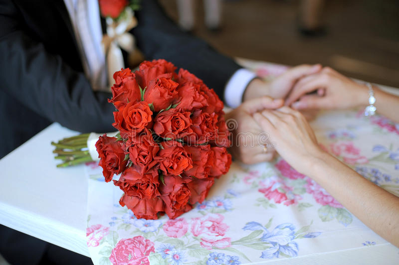 Download Red Rose Wedding Bouquet stock photo. Image of agreement - 28895978