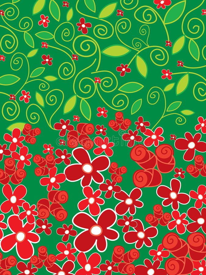 Download Red roses and daisies stock vector. Image of daisy, ornament - 3050376
