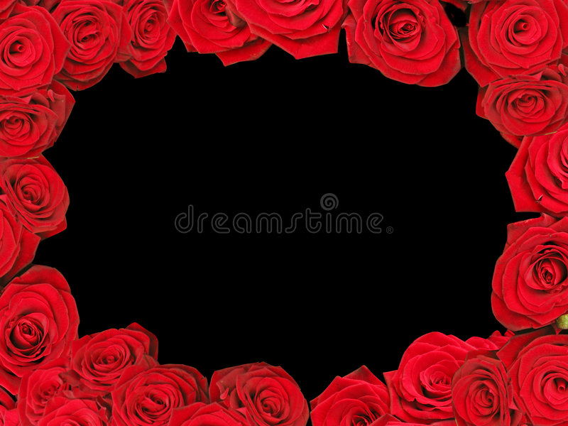 Download Red roses frame stock image. Image of pattern, area, beauty - 5261013
