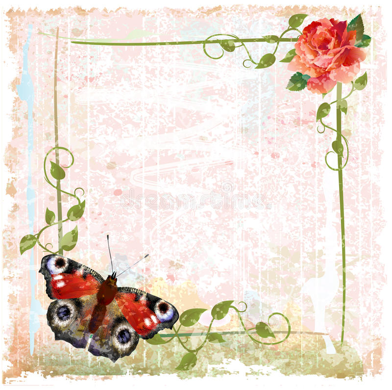 Download Red Roses, Ivy And Butterfly Stock Vector - Image: 25267824