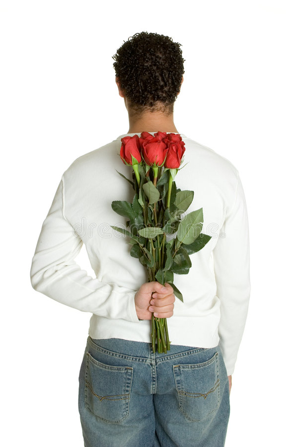 Red Roses Man Royalty Free Stock Photography