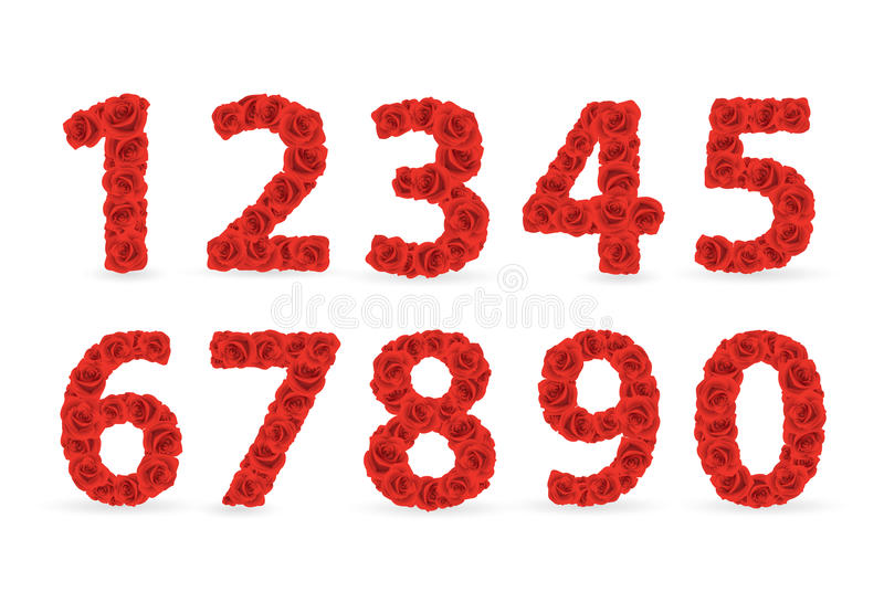 Download Red Roses Numbers. Stock Photography - Image: 24555072