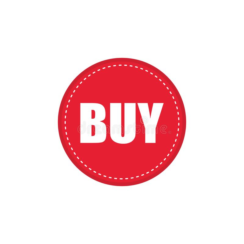 Red round  BUY button for web shop design. red circle round buy button vector eps10. royalty free illustration