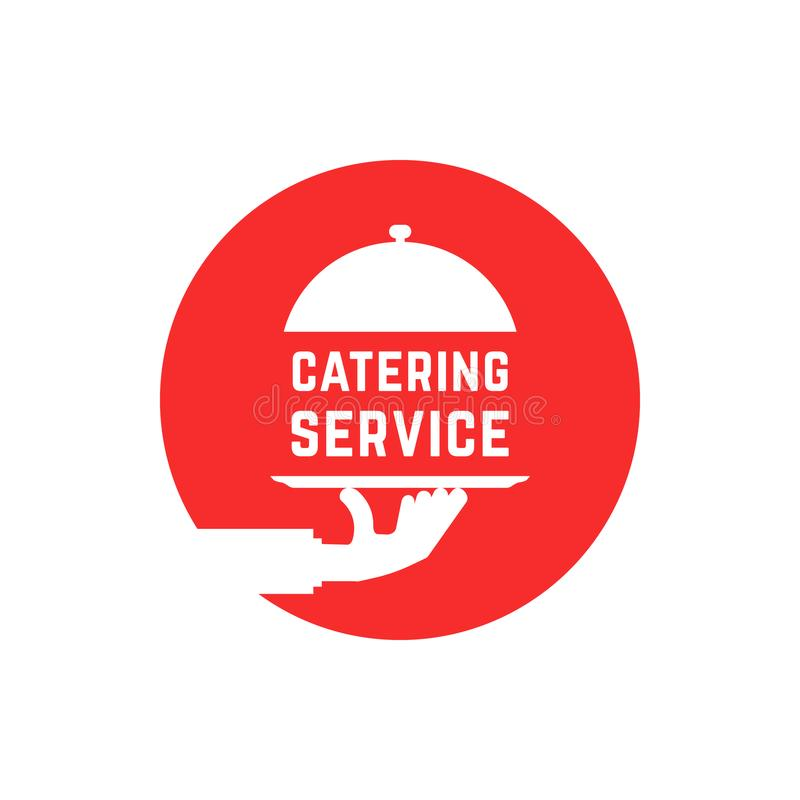 Free Red Round Catering Service Logo Royalty Free Stock Photo - 102167995