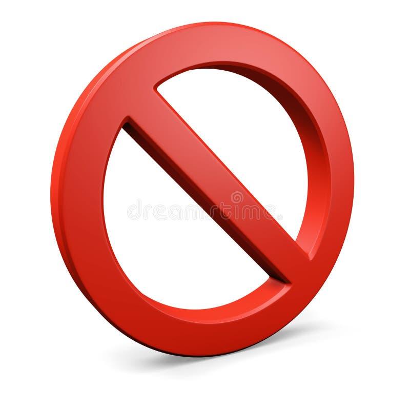 Red Round Forbidden Symbol 2 Stock Photos
