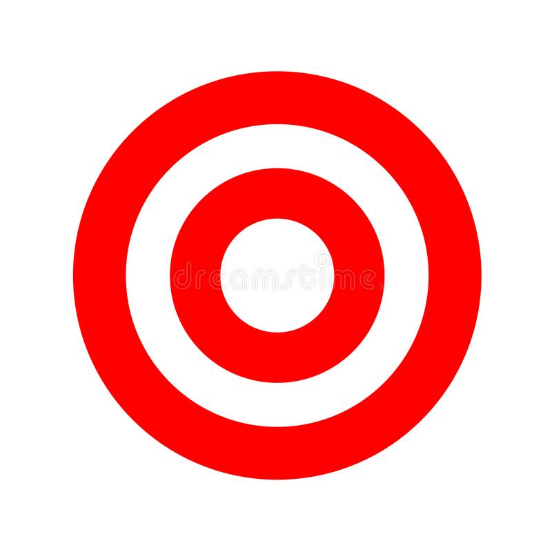 Red Round Symbol Isolated On White, Circle Icon Red For Shooting ...