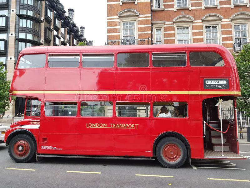 Red Routemaster bus. Traditional London Red Routemaster Bus stock photography