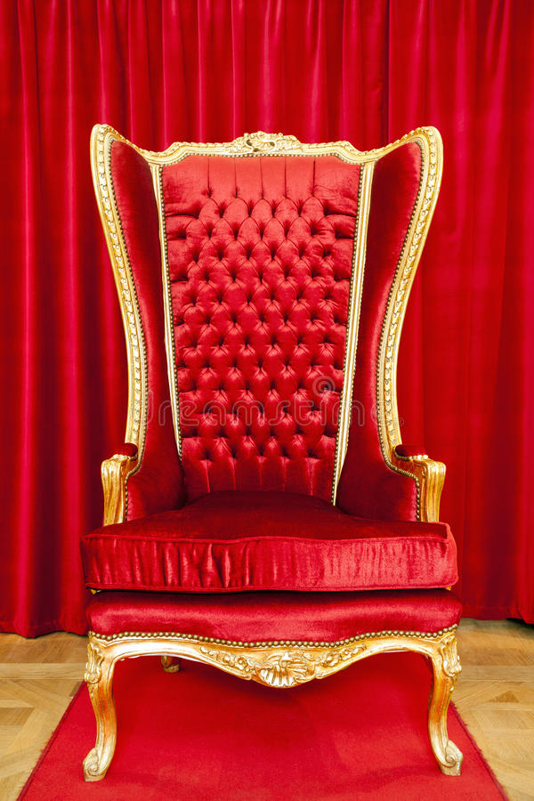 Free Red Royal Throne Stock Images - 47731714
