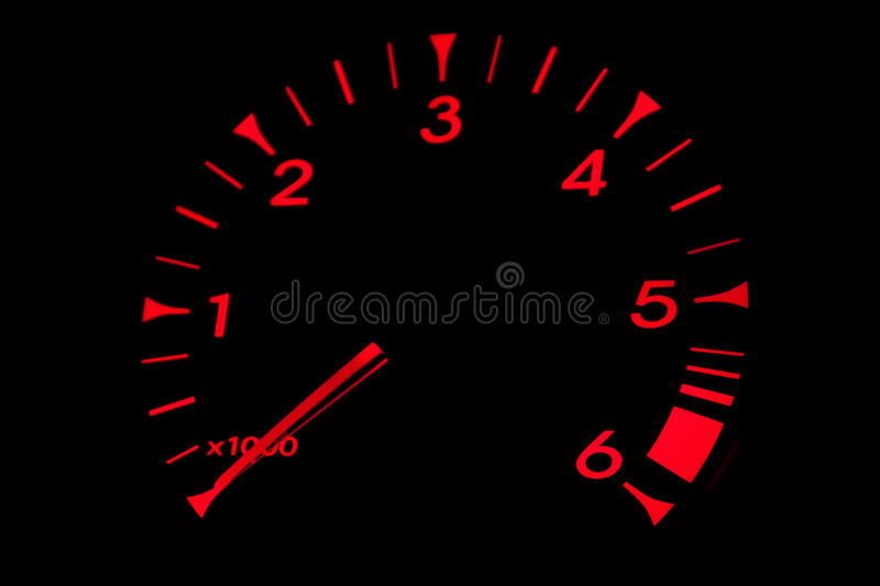 Download Red RPM Dial stock photo. Image of indicator, automobile - 21984864