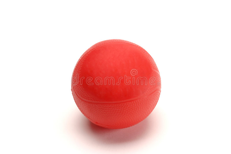 Red Rubber Ball royalty free stock image