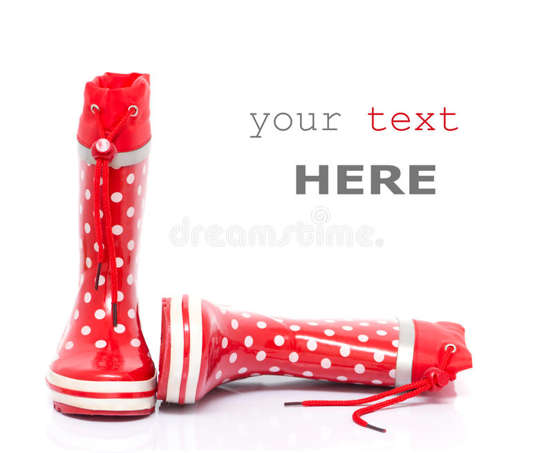 Download Red rubber boots stock image. Image of design, gumboot - 17422515