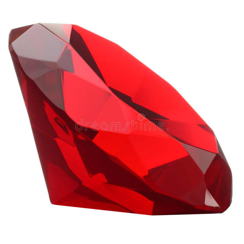 Free Red Ruby Gemstone Stock Image - 8010761