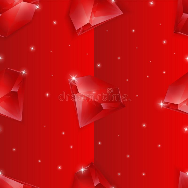 Red ruby seamless pattern background royalty free stock images