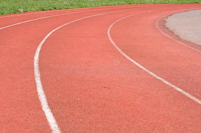 Download Red running track stock image. Image of rubberized, number - 26408083