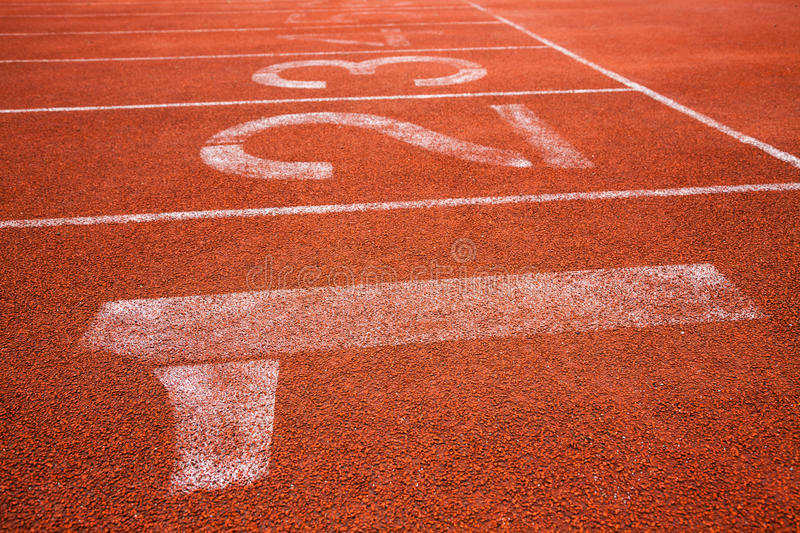 Red running track stock images